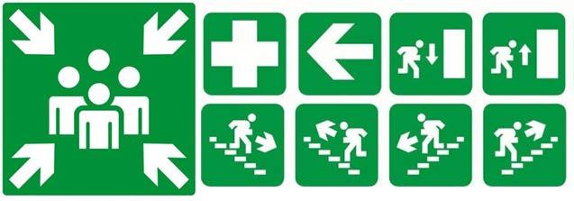 pictogramme evacuation incendie